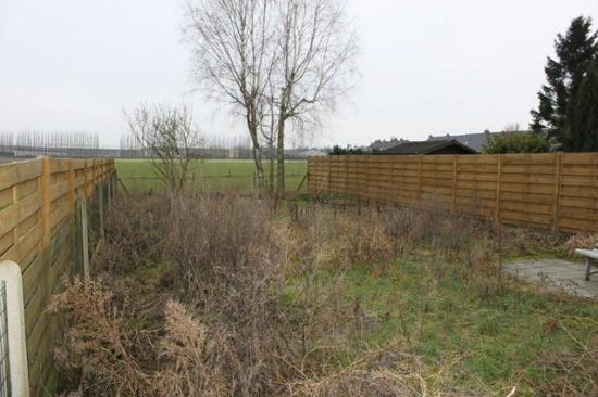 Avant aménagement d'un jardin 200m² à Dottignies